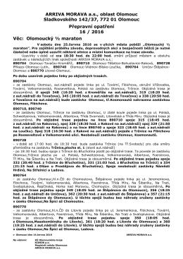 ZDE - ARRIVA MORAVA as