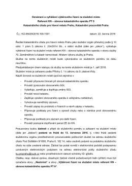 Referent KN – obnova katastrálního operátu PT 9