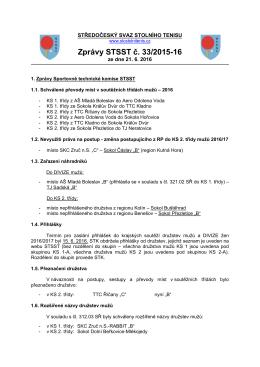 Zprávy STSST č. 33/2015-16 - Středočeský svaz stolního tenisu