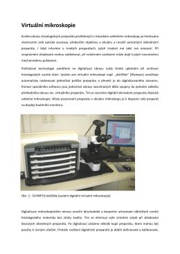 Virtuální mikroskopie - LF