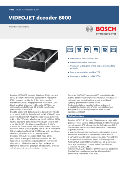 VIDEOJET decoder 8000 - Bosch Security Systems