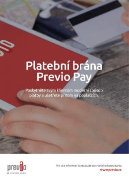 Platební brána Previo Pay