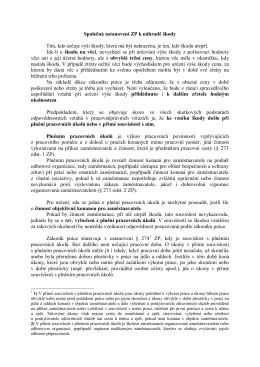 Společná ustanovení zákoníku práce k náhradě škody