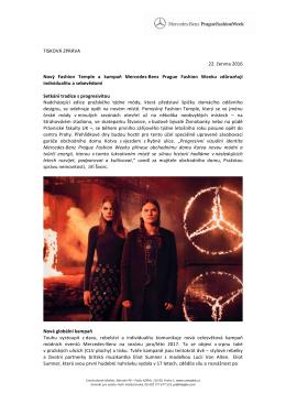 Tisková zpráva - Mercedes-Benz Prague Fashion Week