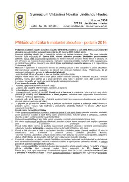 Gymnázium Vítězslava Nováka , Husova 333/II
