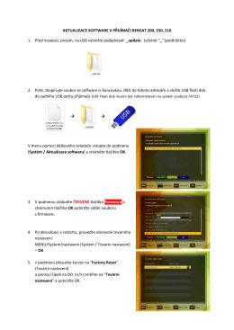 aktualizace software návodx