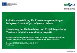 Monitoring projektů - Tschechische Republik 2014