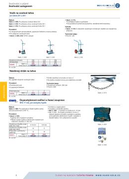Svařování a pájení Svařování autogenem Vozík na ocelové lahve