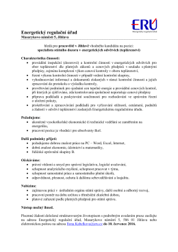 Specialista státního dozoru v energetických odvětvích (teplárenství