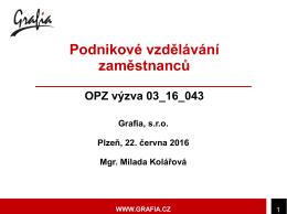 M. Kolářová - Výzva 43