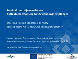 Prezentace aplikace PowerPoint - Tschechische Republik 2014