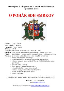 O POHÁR SDH SMRKOV