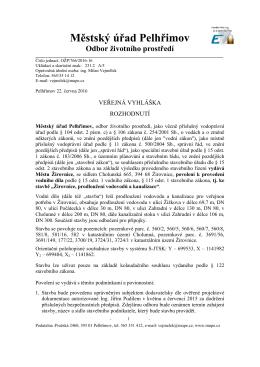 Veřejná vyhláška - Město Žirovnice