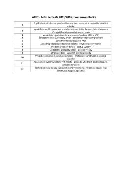 Ukázka testových otázek