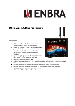 Wireless M-Bus Gateway