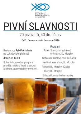 Pivní slavnosti na přehradě v Luhačovicích