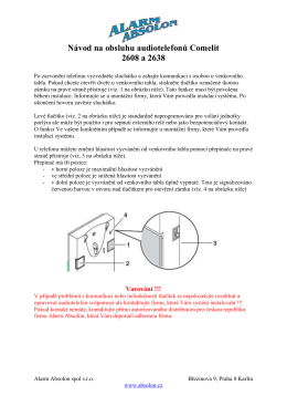 Návod na obsluhu - Alarm Absolon, spol. s .ro