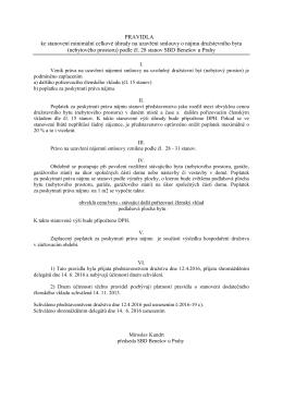 Pravidla - SBD Benešov u Prahy