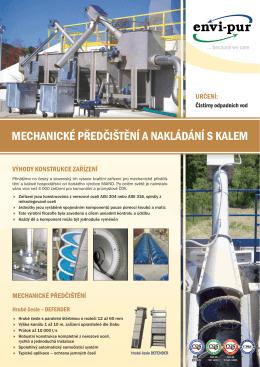 Mechanické předčištění a nakládání s kalemvelikost - ENVI-PUR