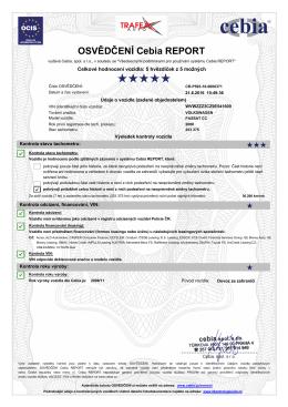 zobrazit cebia certifikát