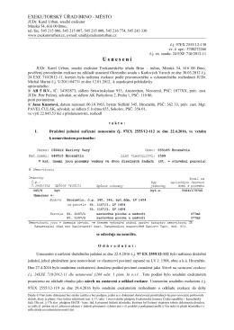 Usnesení o odročení dražby (č.j. 97EX 2555/12-130)