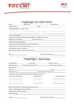 Fragebogen - Osobní dotazník DE