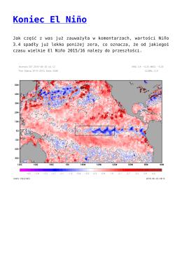 Koniec El Niño,ARPÈGE i upał