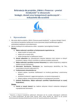 """Rekrutacja do projektu """"Zdolni z Pomorza – powiat kwidzyński"""" w"""