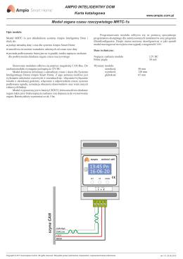 moduł zegara RTC MRTC-1 - Inteligentny dom Ampio Smart Home