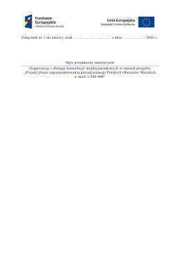 Opis przedmiotu zamowienia (złącznik nr 1 do umowy)