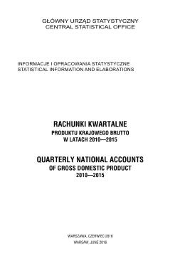 Rachunki kwartalne produktu krajowego brutto w latach 2010-2015