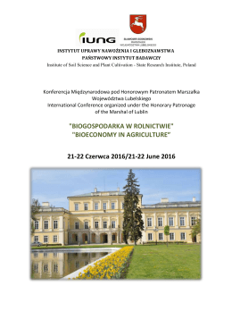 "BIOECONOMY IN AGRICULTURE"" 21-22 Czerwca 2016/21"
