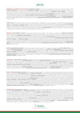Skrócone informacje o lekach - Akademia Nowoczesnej Fitoterapii