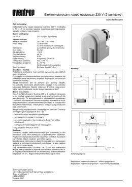 Elektromotoryczny napęd nastawczy 230 V (2-punktowy