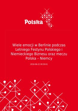 Wiele emocji w Berlinie podczas Letniego Festynu Polskiego i