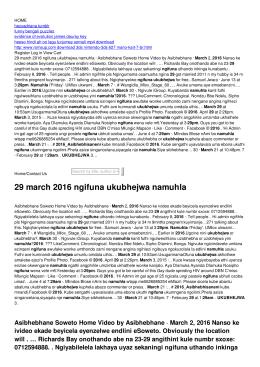 29 march 2016 ngifuna ukubhejwa namuhla