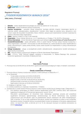 Regulamin_Promocji Tydzień Rodziny2016