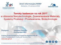 20160615_NMBP_Infoday2_Katowice_ NMBP 2017_J.Piekarski