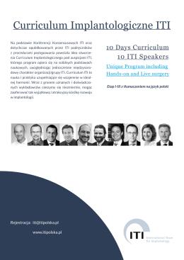 Curriculum Implantologiczne ITI