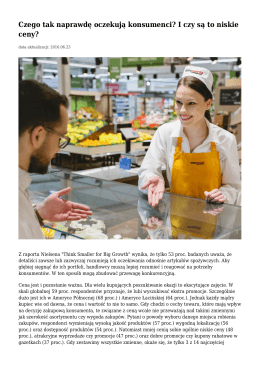 Czego tak naprawdę oczekują konsumenci? I czy są to niskie ceny?