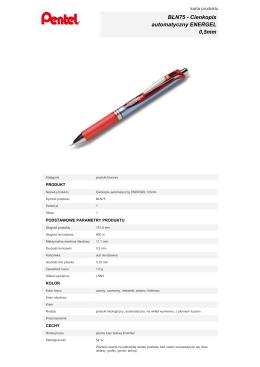 BLN75 - Cienkopis automatyczny ENERGEL 0,5mm
