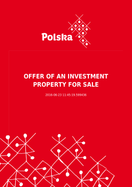 OFFER OF AN INVESTMENT PROPERTY FOR SALE