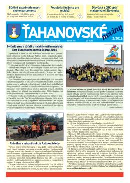 Ťahanovské noviny 2_2016 - Mestská časť Košice