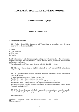 Pravidlá - Powerlifting.sk