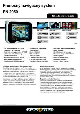 Prenosný navigačný systém PN 2050