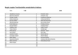 rozpis Trenčiansky amatérsky triatlon tu