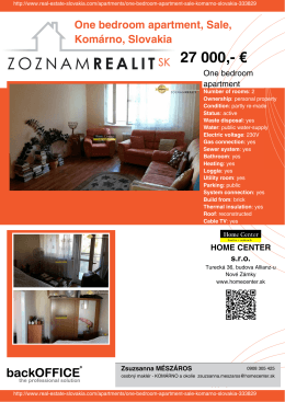 27 000 - Real Estate Slovakia