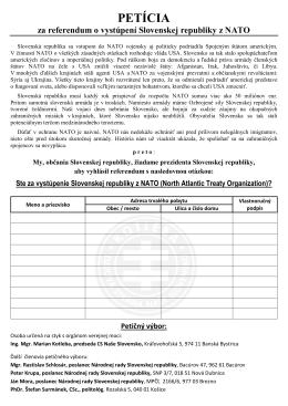 Stiahnuť petičný hárok na vyhlásenie referenda za vystúpenie zo