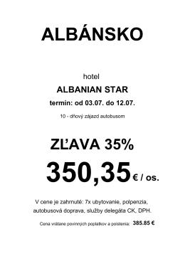 albánsko - casummer.sk