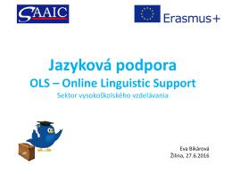 Jazyková podpora